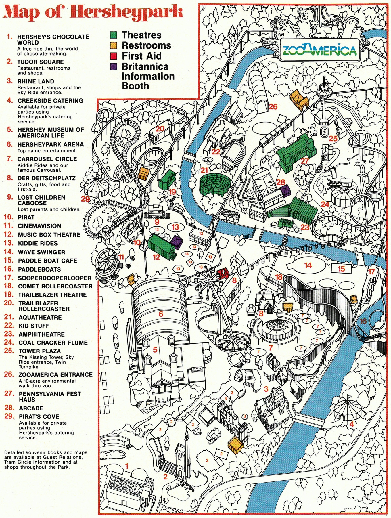 1983 Hersheypark map