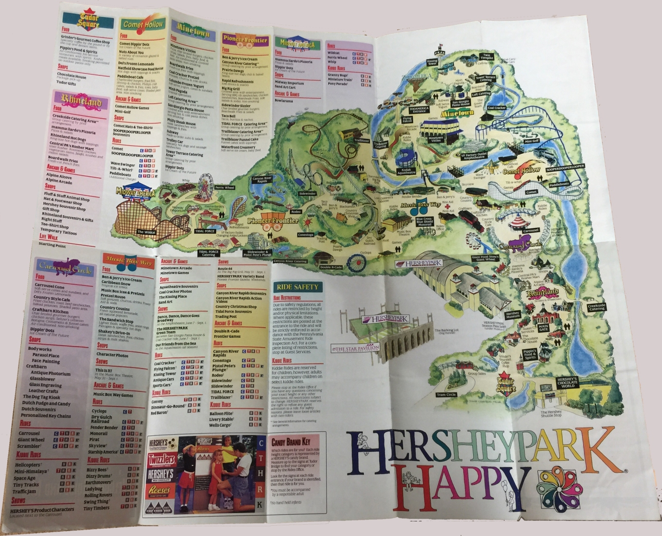 1997 Hersheypark map
