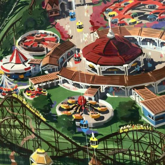 1971-02/03 concept for Hersheypark [Carrousel Circle]