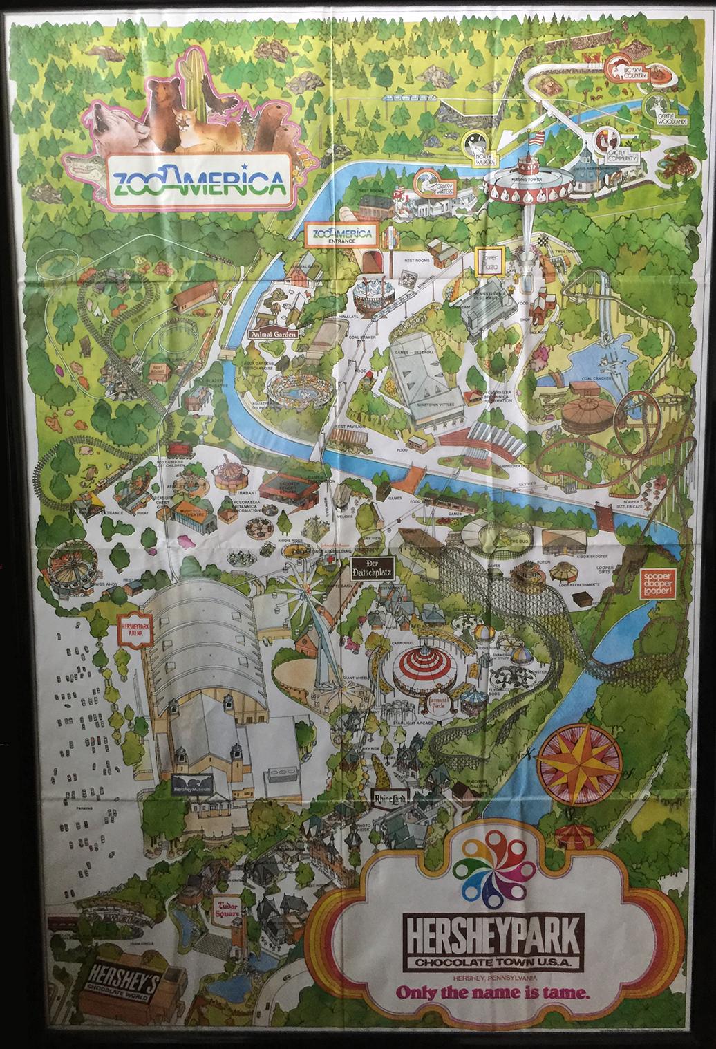 1980 Hersheypark Souvenir map
