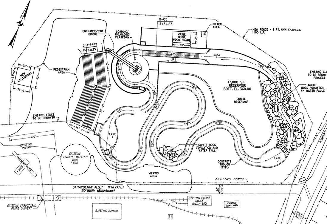 Canyon River Rapids proposal, 1986.