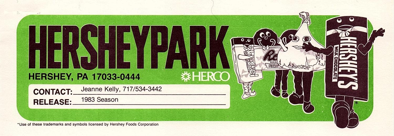 Hersheypark letterhead, 1983.