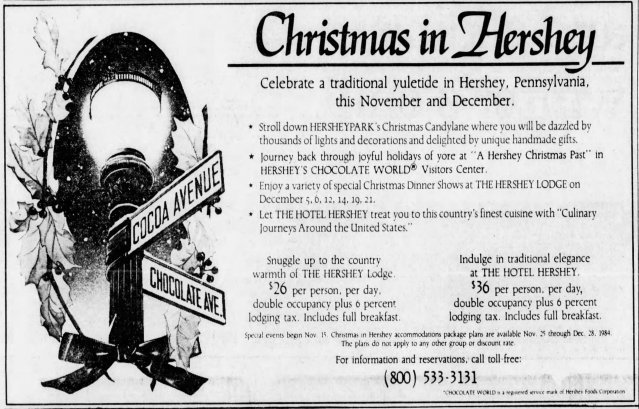 Christmas In Hershey  The Philadelphia Inquirer P2 T