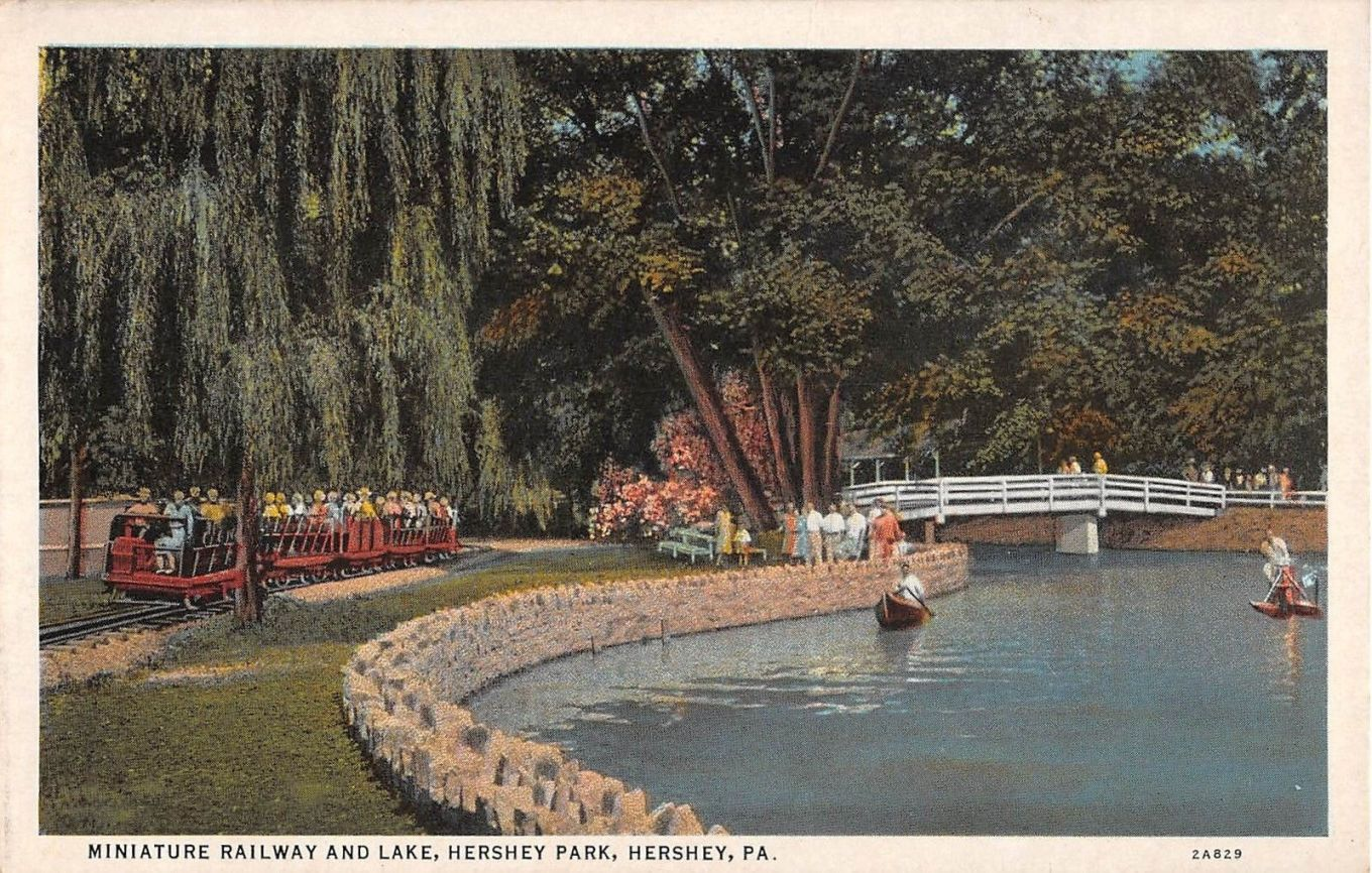 1940 ~ Miniature Railroad and Lake