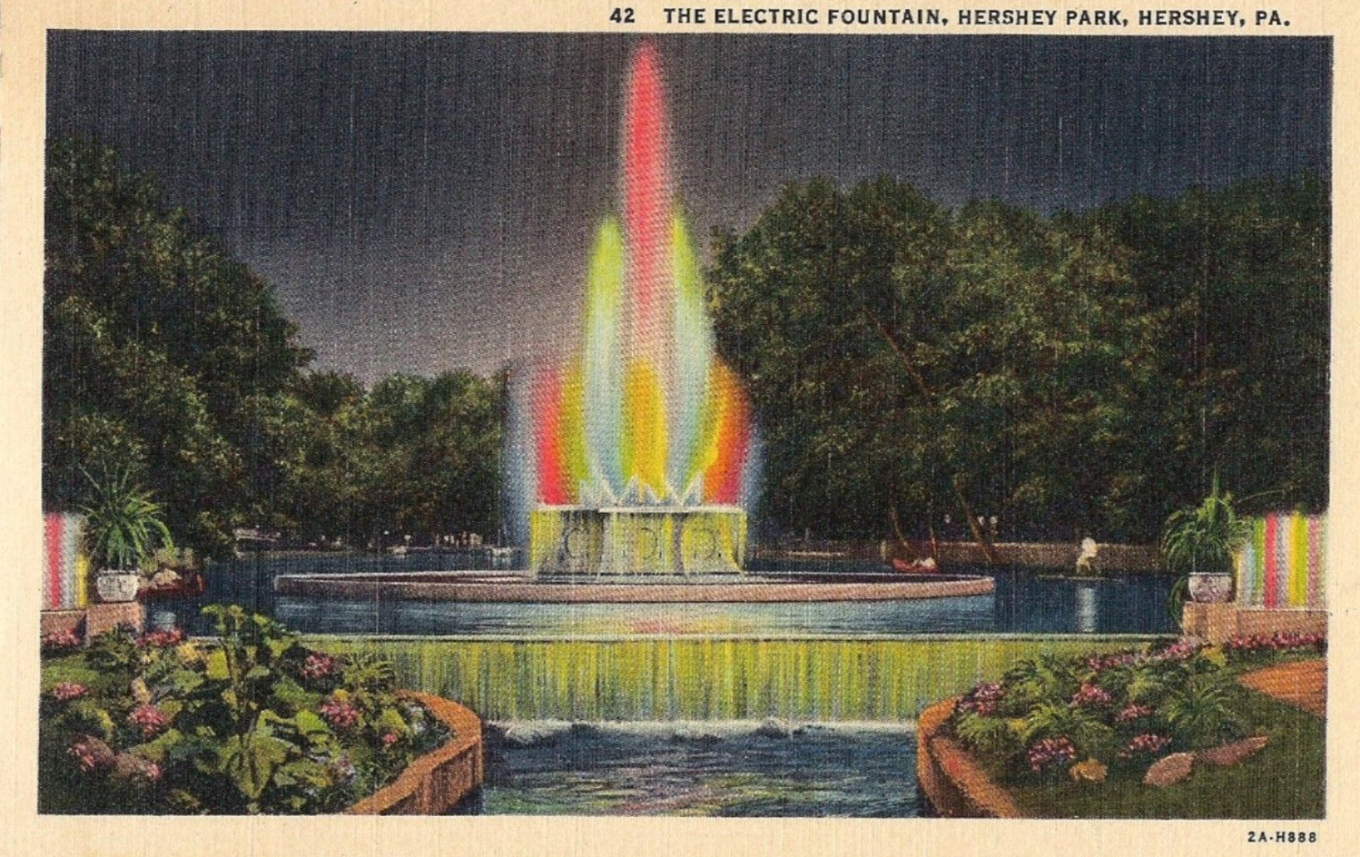 1940 ~ Sunken Garden - Electric Fountain